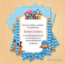 Invitacion Digital Imprimible Pocoyo Cumpleanos 60 00 En