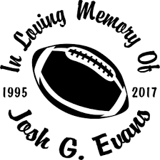 Football Rugby Team Sports Designer Series Decals In Loving Memory Car Window Decals