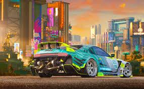 cyberpunk car 4k 1024x768 resolution hd