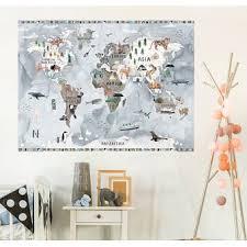 Oopsy Daisy Customizable Watercolor Map Wall Decal Wayfair