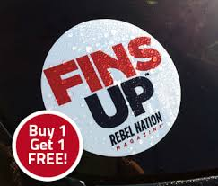 Finsup Window Decal Rebel Nation Magazine