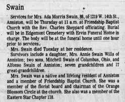 Obituary for Ada Morris Swain (Aged 86) - Newspapers.com