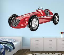 Amazon Com West Mountain Vintage Sport Race Car Wall Decal Nursery Art Kids Bedroom Decor Vinyl Playroom Sticker Mural Wm16 48 W X 40 H Home Kitchen