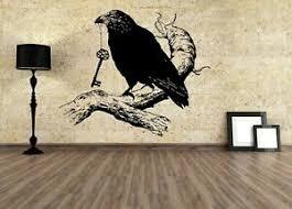 Wall Vinyl Sticker Decal Raven Vinyl Bird Runes Custom Vinyl Decal For Kids G132 751778745333 Ebay