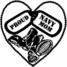 Proud Navy Mom Dog Tags Heart Combat Boots Car Or Truck Window Decal Sticker Or Wall Art Decalsrock