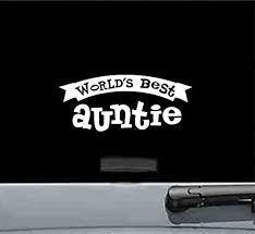 Amazon Com Js Artworks Worlds Best Auntie Aunt Uncle Family Vinyl Decal Sticker White Automotive