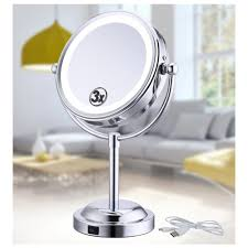 double sided table top makeup mirror