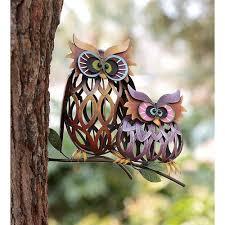 wayfair ca prismatic iron owls statue