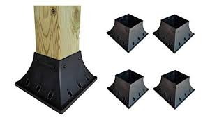 Supports Fenceposts Mailbox 4 X 4 Wood Post Support 24 Inch X 3 5 X 3 5 Fence Post Anchor Ground Spike 4 Pack