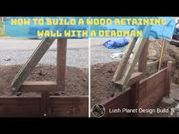 how to build a wood retaining wall with