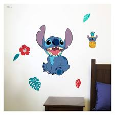 Amazon Com Disney Lilo And Stitch Wall Decal Stitch Wall Decals With 3d Augmented Reality Interaction Lilo Stitch Bedroom Decor Kitchen Dining