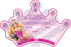 Tarjetas De Invitacion Barbie Escuela De Princesas Cumpleanos De