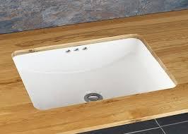 rectangle inset bathroom sink