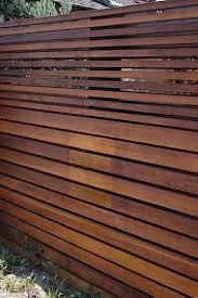 Privacy Screen Different Size Slats Modern Fence Backyard Fences Fence Design