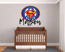 Custom Name Superman Logo Wall Decal Egraphicstore