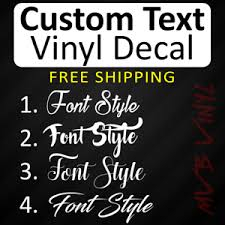 Cursive Vinyl Decal Sticker Script Window Custom Personalized Lettering 628 Ebay