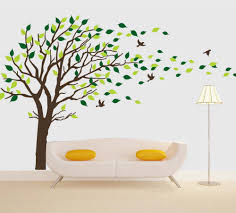 Tree Wall Decals Brown Tree Blowing In The Wind Vinyl Wall Sticker Nursery Baby Tree Wall Decals Living Room Bedroom Wall Decor Home Decor Living Room