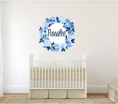 Wall Stickers Custom Colour Dahlia Flowers Kids Vinyl Removable Decal Nursery