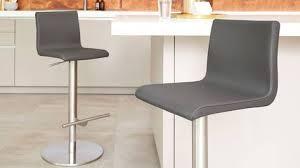kiki real leather gas lift bar stool