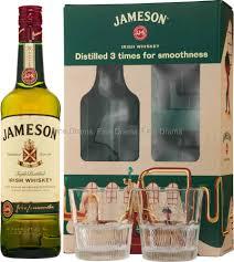 jameson irish whiskey gift pack 2 gles