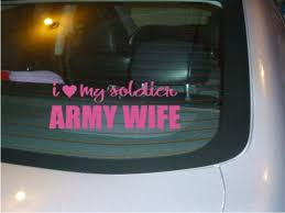 Love My Soldier Army Wife Car Decal Sticker New Etsy