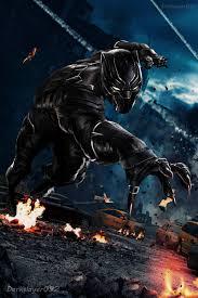 black panther marvel wallpaper on