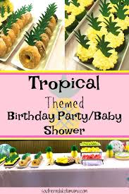 tropical themed birthday party baby