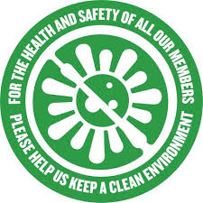 Health Safety Window Decal Clear Northeast Color Webstore