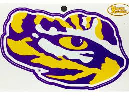 Lsu Tigers 5 Die Cut Bayou Tiger Eye Vinyl Decal Purple And Gold Sports