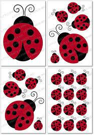 Ladybug Wall Decals Red Ladybug Nursery Wall Stickers Decals By Littleprintsparties Ladybug Nursery Nursery Wall Stickers Ladybug Room