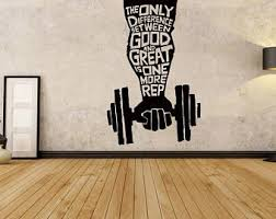 Gym Decal Etsy
