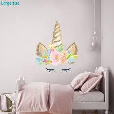 Unicorn Horn Wall Sticker Unicorn Wall Decal Rainbow Room Etsy In 2020 Unicorn Bedroom Decor Unicorn Room Decor Unicorn Wall Decal