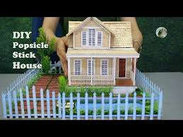 Popsicle Stick Crafts 5 Beautiful Houses Diy Youtube