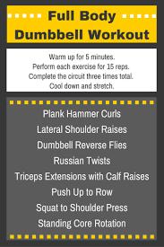 dumbbell exercises for men chart
