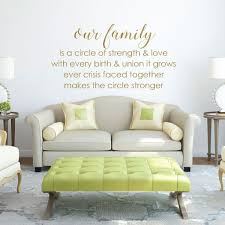 Family Circle Strength Living Room Vinyl Decor Wall Decal Customvinyldecor Com