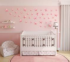 Amazon Com Luxbon 30pcs Stars Wall Decals 3d Paper Star Wall Stickers For Kids Boy Girls Baby Room Decoration Good Night Nursery Wall Decor Home Bedroom Design Star Decor Decals Pink Home