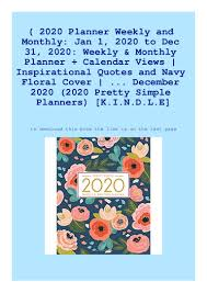 b o o k planner weekly and monthly jan to dec
