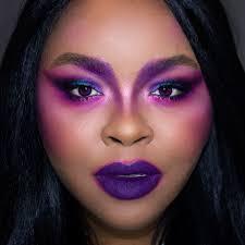 dramatic purple makeup look paper