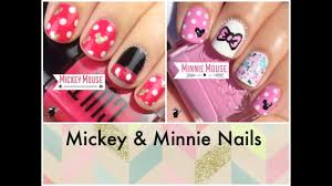 Mickey and Minnie Nail Tutorials