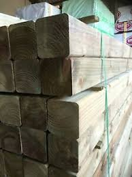 Wooden 10ft 4x4 Planed All Round Treated Post 3 0x95x95 Pergola Decking Fence Ebay