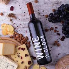 Thank You Wine Bottle Vinyl Sticker Decal Wine O Clock 6 X 3 5 Imprinted Designs