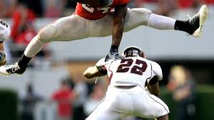 TBT: Knowshon Moreno hurdles Central Michigan defender