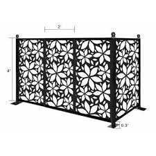 E Joy 4 5 Ft X 6 Ft Freestanding Modular Metal Privacy Screen Wayfair In 2020 Privacy Screen Metal Fence Panels Fence Panels