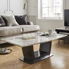 roscoe marble coffee table in white