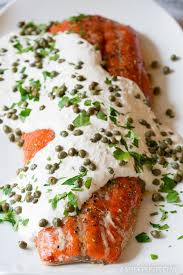 smoky oven baked salmon with