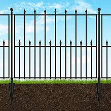 Amazon Com Hampton Bay Empire 30 In X 36 In Black Steel 3 Rail Fence Panel Industrial Scientific