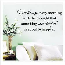 Vova 55 9 27 9cm Wake Up Every Morning Pvc Removable Wall Stickers Wall Decals Decorative Adesivo De Parede Wall Stickers Home Decor