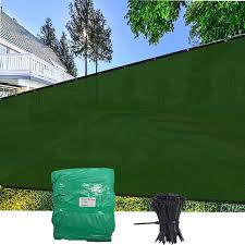 Amazon Com Evergrow 5 X 50 Dark Green Fence Privacy Screen Windscreen Shade Fabric Mesh Tarp Mesh Brass Grommets Free Zip Ties With 5 Years Warranty 90 Uv Blockage 5x50 Green