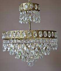 empire ceiling lighting vintage crystal