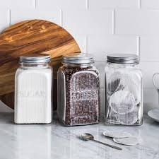 ksp vintage glass canister with lid